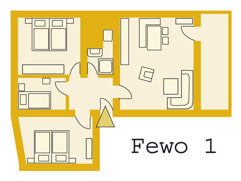 die wohnung landlust auf dem bauernhof hausmann 80 qm. Black Bedroom Furniture Sets. Home Design Ideas