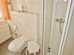 Badezimmer im Ferienhaus am Brombachsee